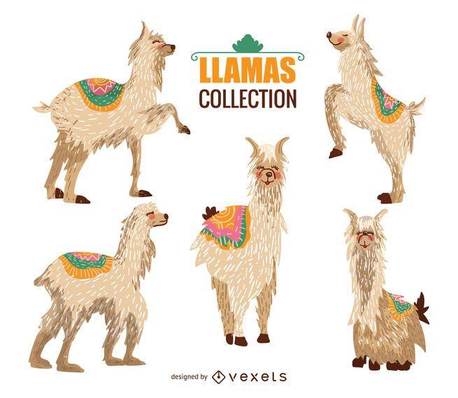 Lama-Illustrationssammlung
