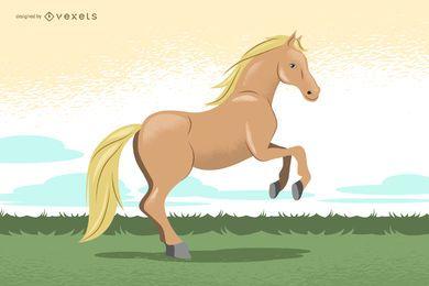 Ilustração desenhada mão do cavalo