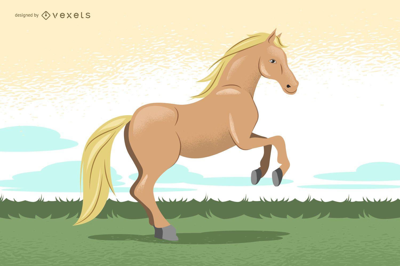 Ilustración de caballo dibujado a mano