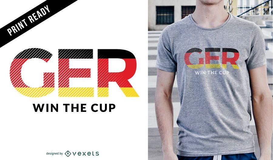 Diseño de camiseta ganadora de fútbol de Alemania
