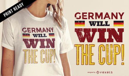 Diseño de camiseta de Alemania copa del mundo