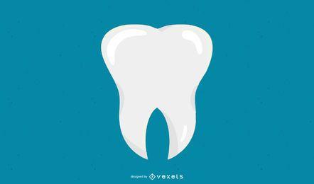 Zahn flach Symbol