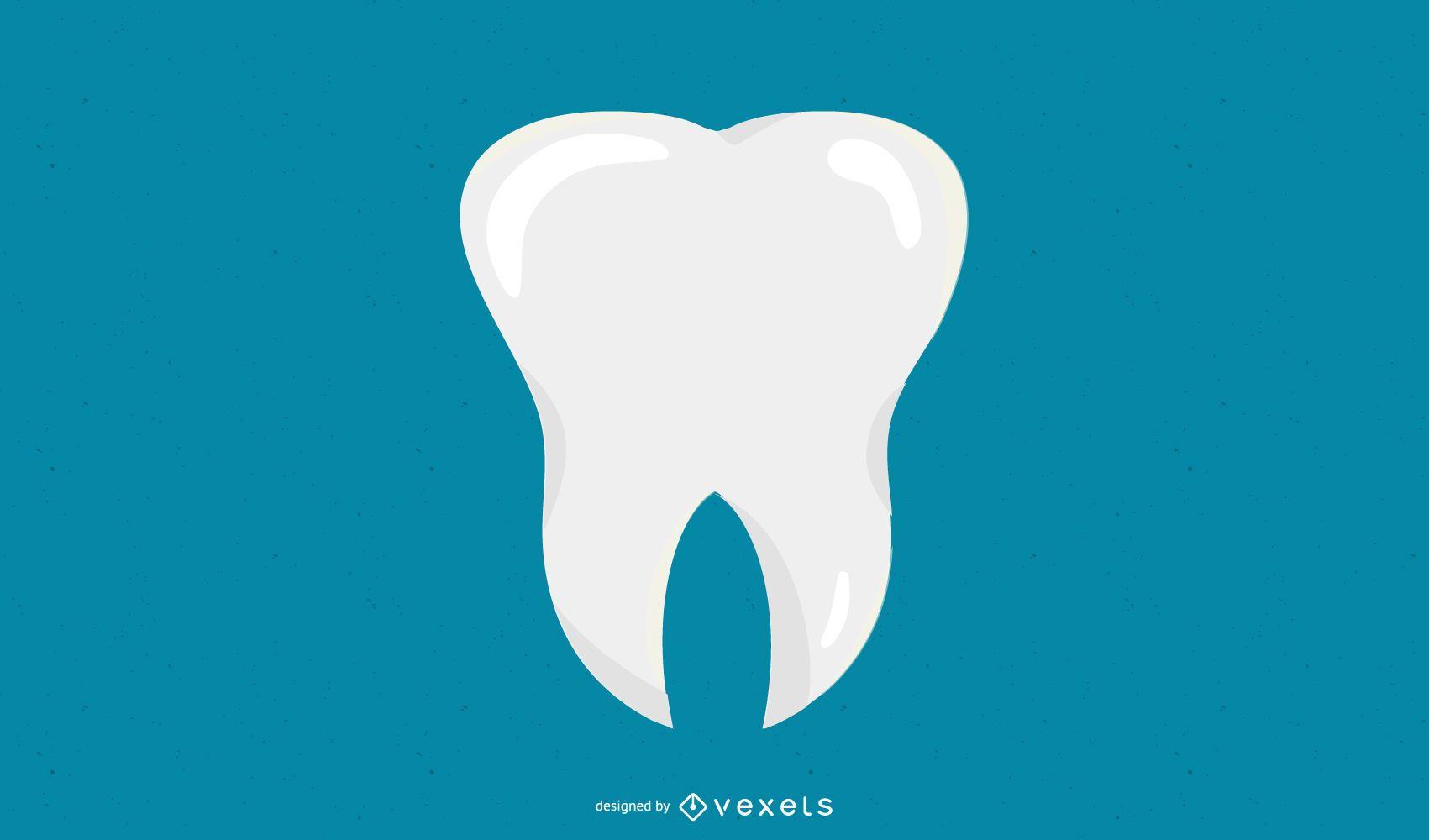 Icono de diente plano