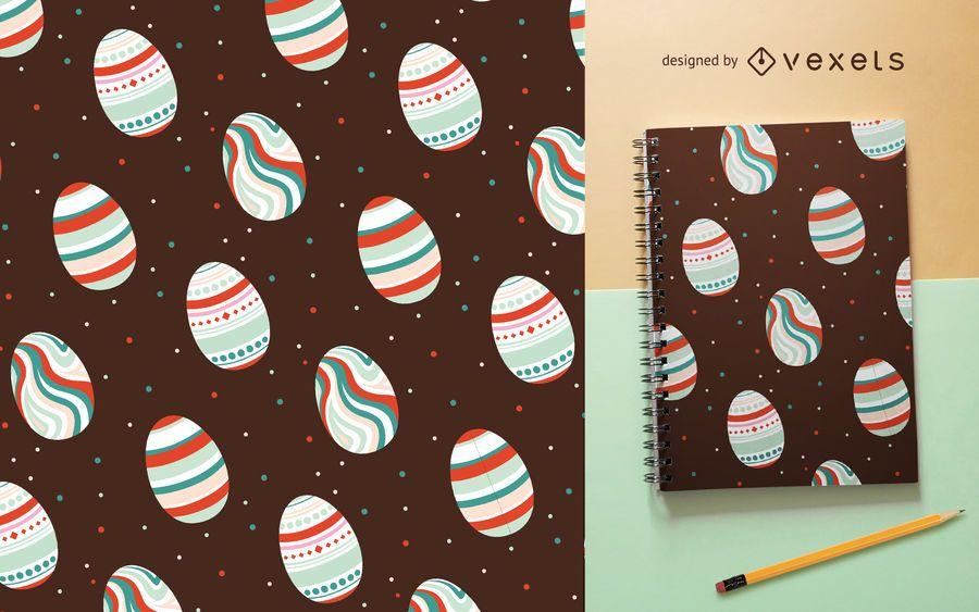 Padrão colorido de ovos de Páscoa