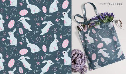 Ostern Hase und Eier Muster