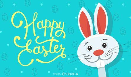 Ilustración feliz conejo de Pascua