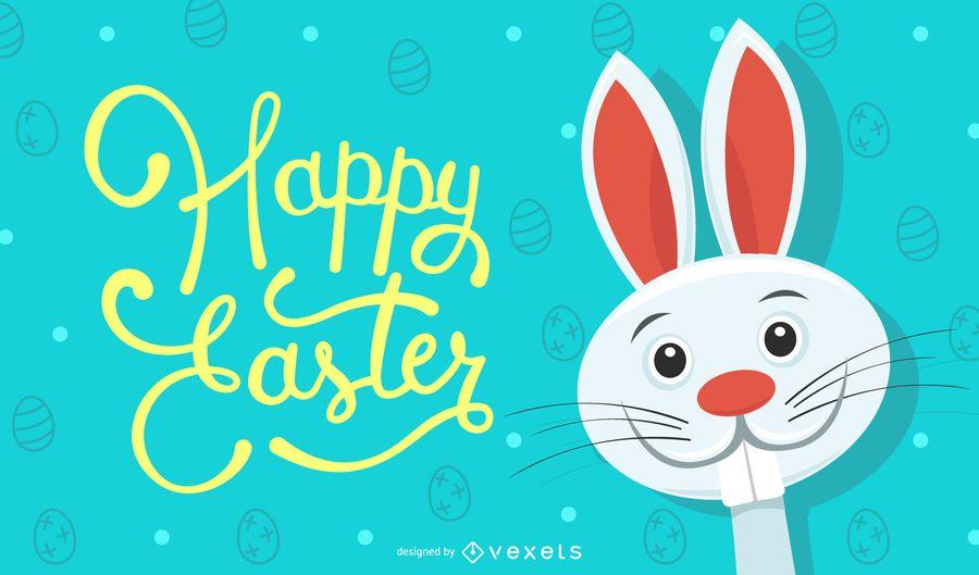 Ilustración de conejo de Pascua feliz