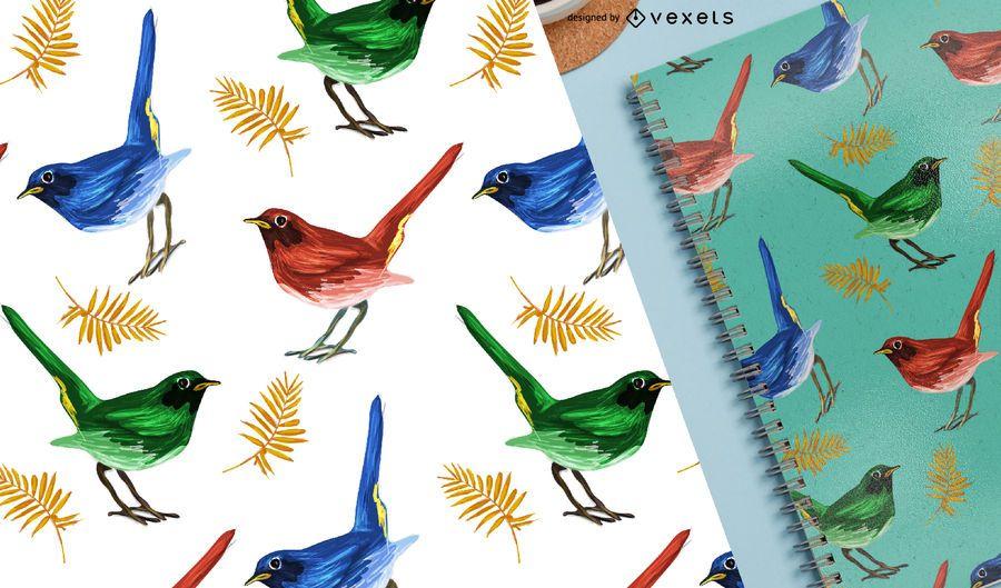 Pinzones de aves sin patrón tropical