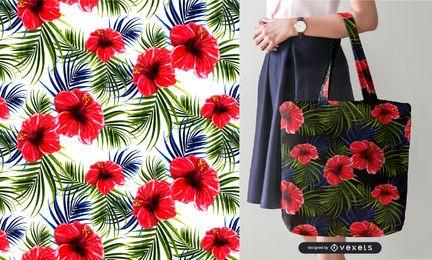 Tropisches nahtloses Muster der Blumen und der Blätter