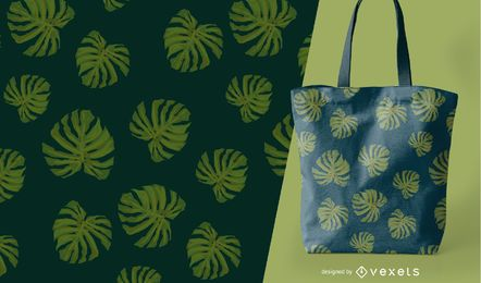 Tropisches Blatt nahtlose Muster