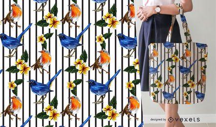 Patrón de rayas de pájaro pinzones