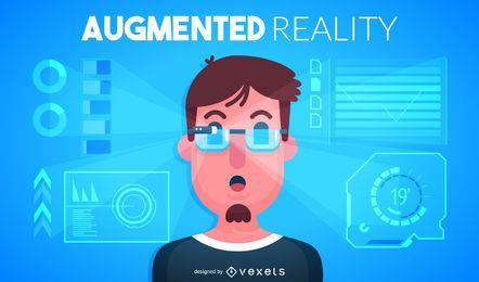 Ilustração de realidade aumentada