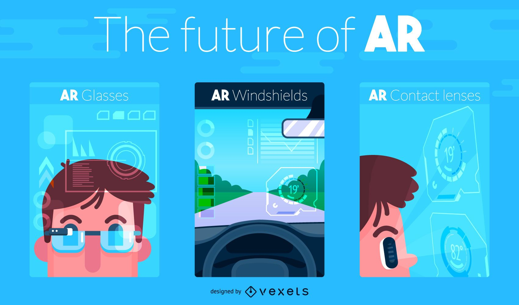 Future Of Augmented Reality Illustration - Vector Download