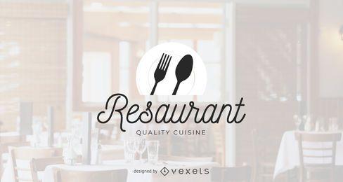 Modelo de logotipo de restaurante de qualidade