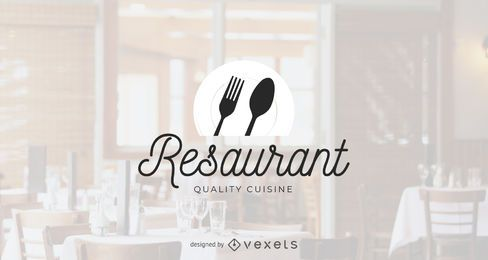 Quality restaurant logo template