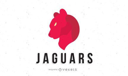 Modelo de logotipo de jaguares vermelhos