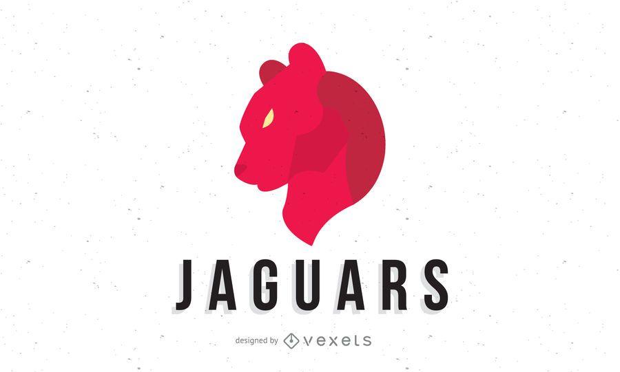 Red jaguars logo template