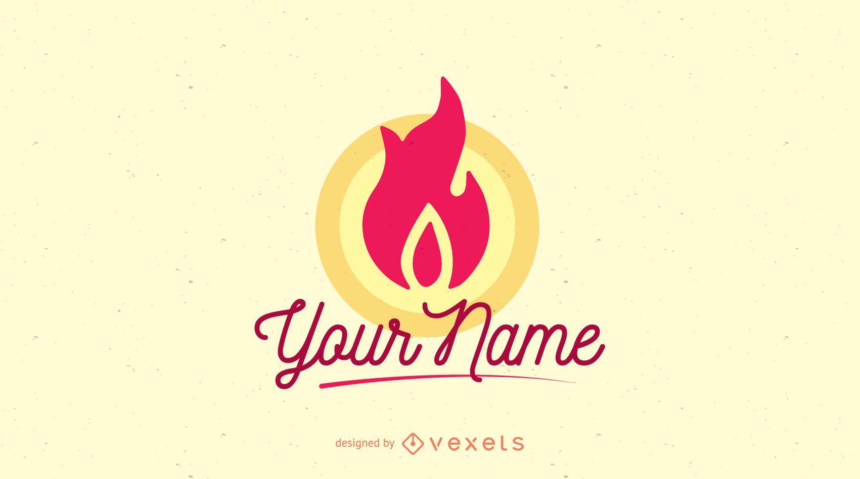 Fire flame company logo template