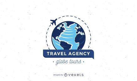 Modelo do logotipo da agência de viagens