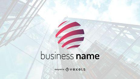 Modelo de logotipo de empresa de negócios