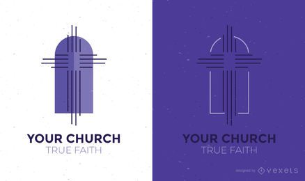 Church logo design template