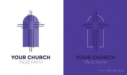 Plantilla de diseño de logotipo de la iglesia