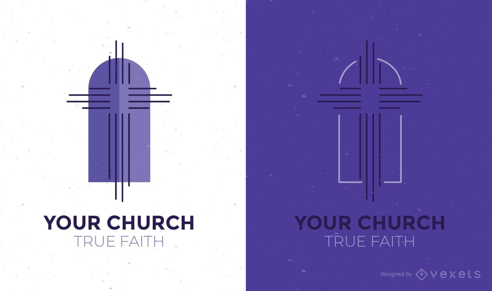 Plantilla de diseño de logotipo de iglesia