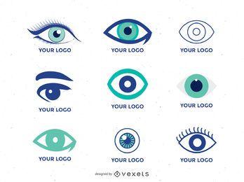 Coleção de modelo de logotipo de olho