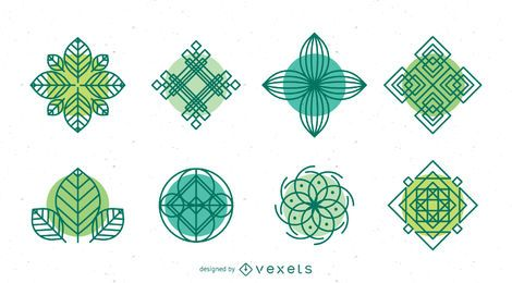 Colección de plantilla de logotipo de naturaleza