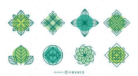 Natur-Logo-Vorlagen-Sammlung