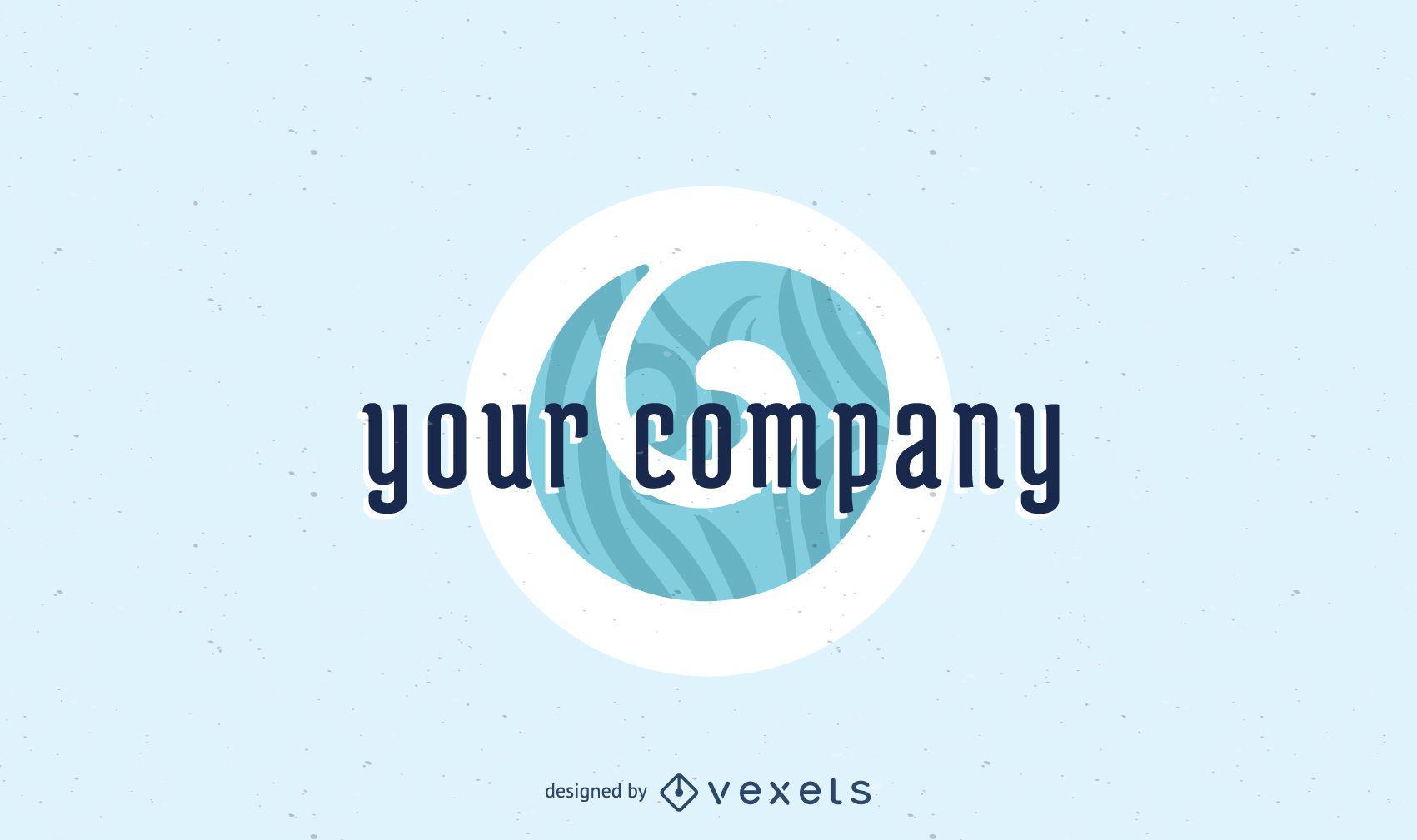 Koru company logo template