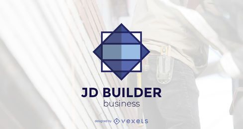 Modelo de logotipo de construtor de construção