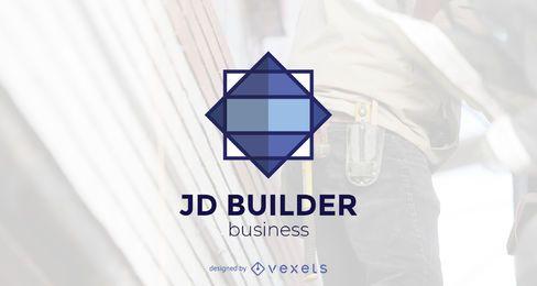 Modelo de logotipo do construtor de construção