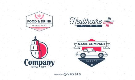 Vintage logo collection pack