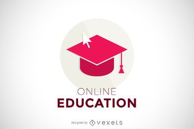 Online education logo template