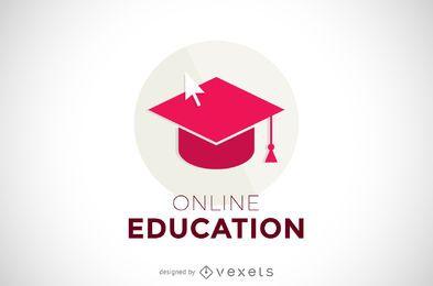 Plantilla de logotipo de educación en línea