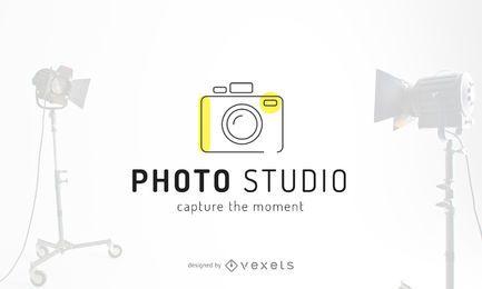 Projeto de modelo de logotipo de foto estúdio