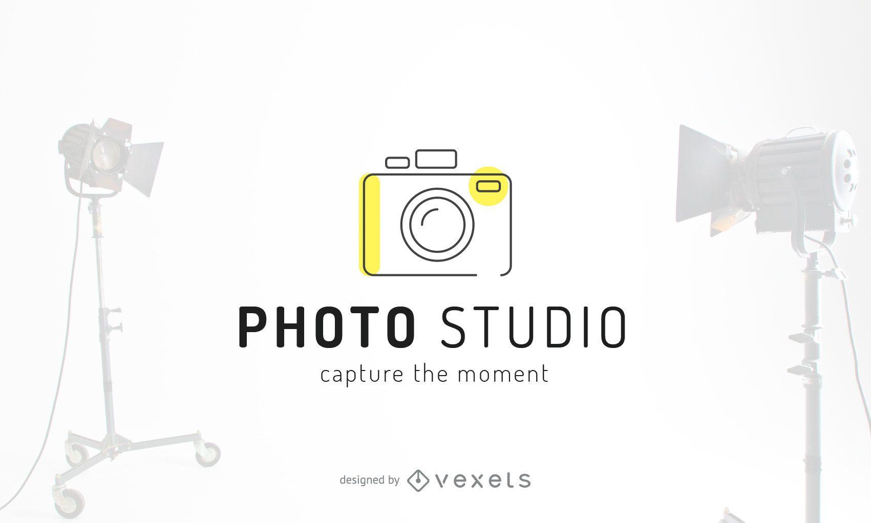 Photo studio logo template design