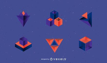 Paquete de plantillas de logotipo 3D