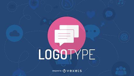 Modelo de logotipo de comunicação minimalista