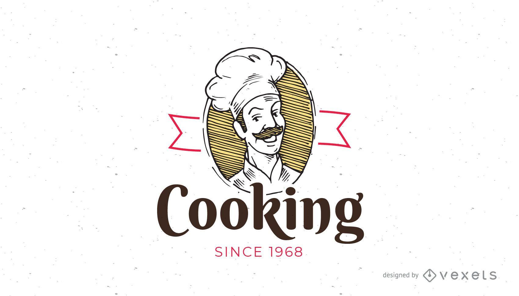 Plantilla de logotipo de cocina vintage - Descargar vector