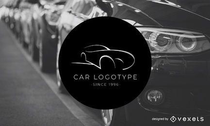 Modelo do logotipo do logotipo do carro