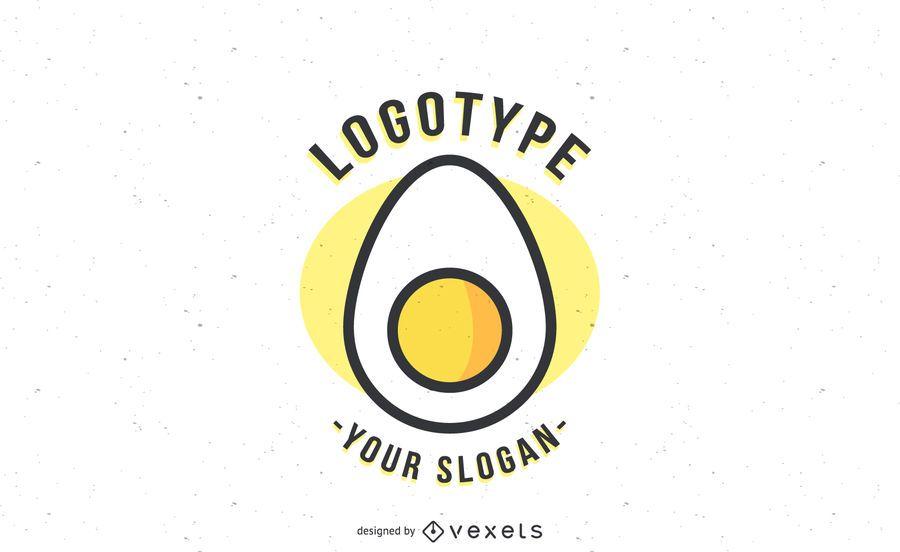 Egg logotype template logo