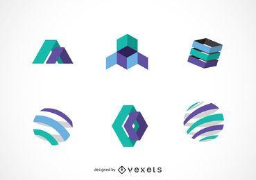 Pacote de modelo de logotipo de tecnologia
