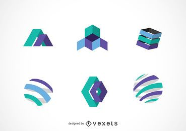 Paquete de plantillas de logotipo de tecnología