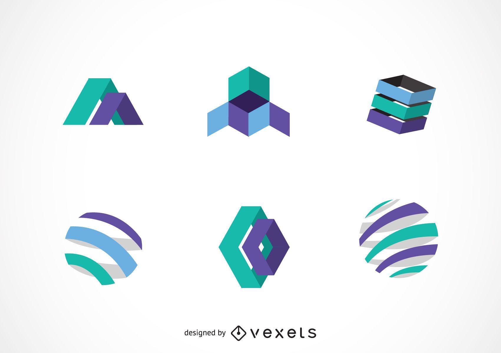 Technology logo template pack