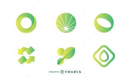 Pacote de modelo de logotipo ambiental
