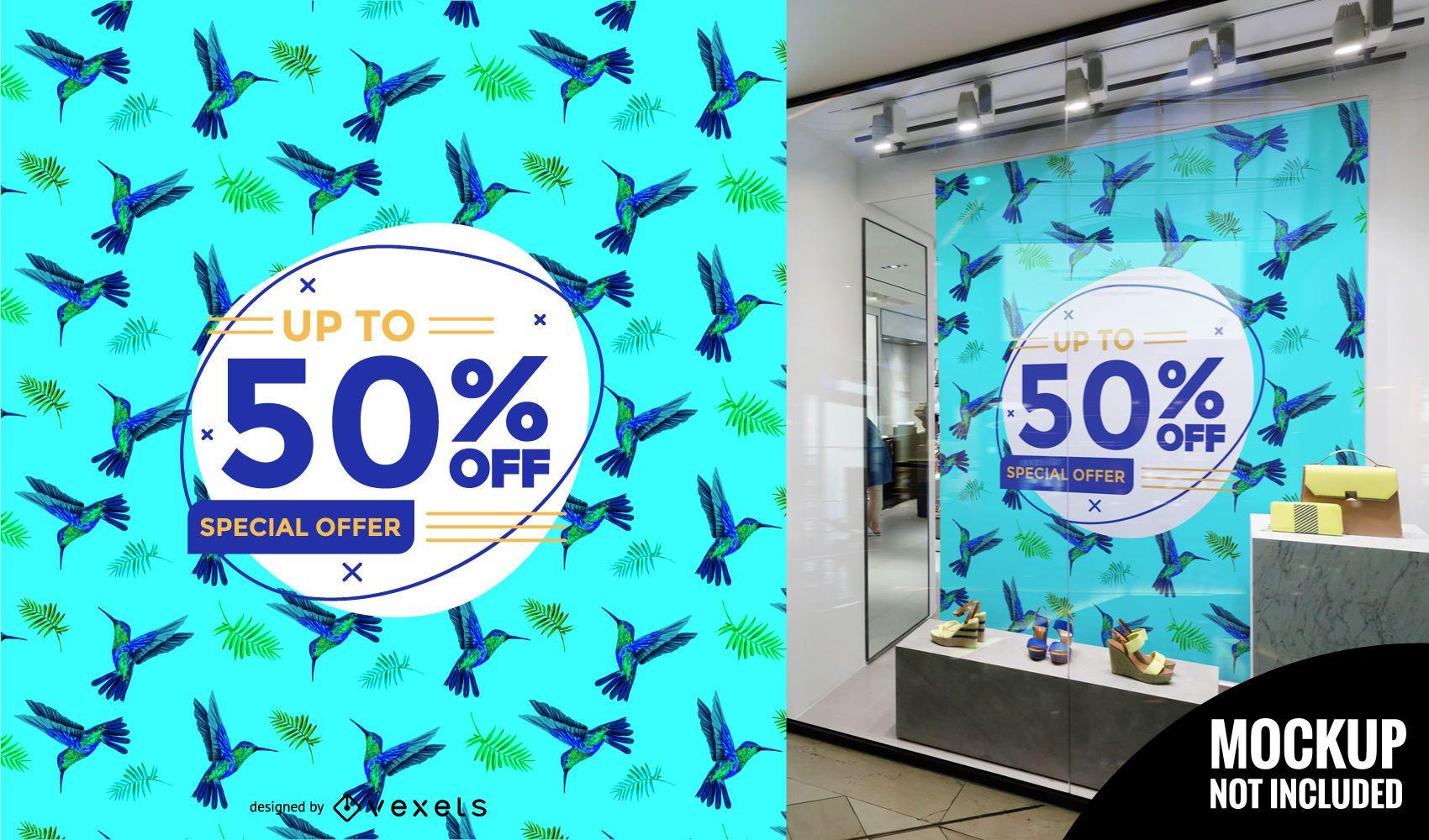 Oferta especial: patrón de venta de ventana.