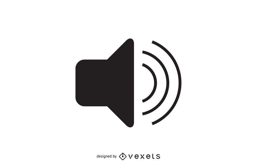 Ícone de volume de áudio simples