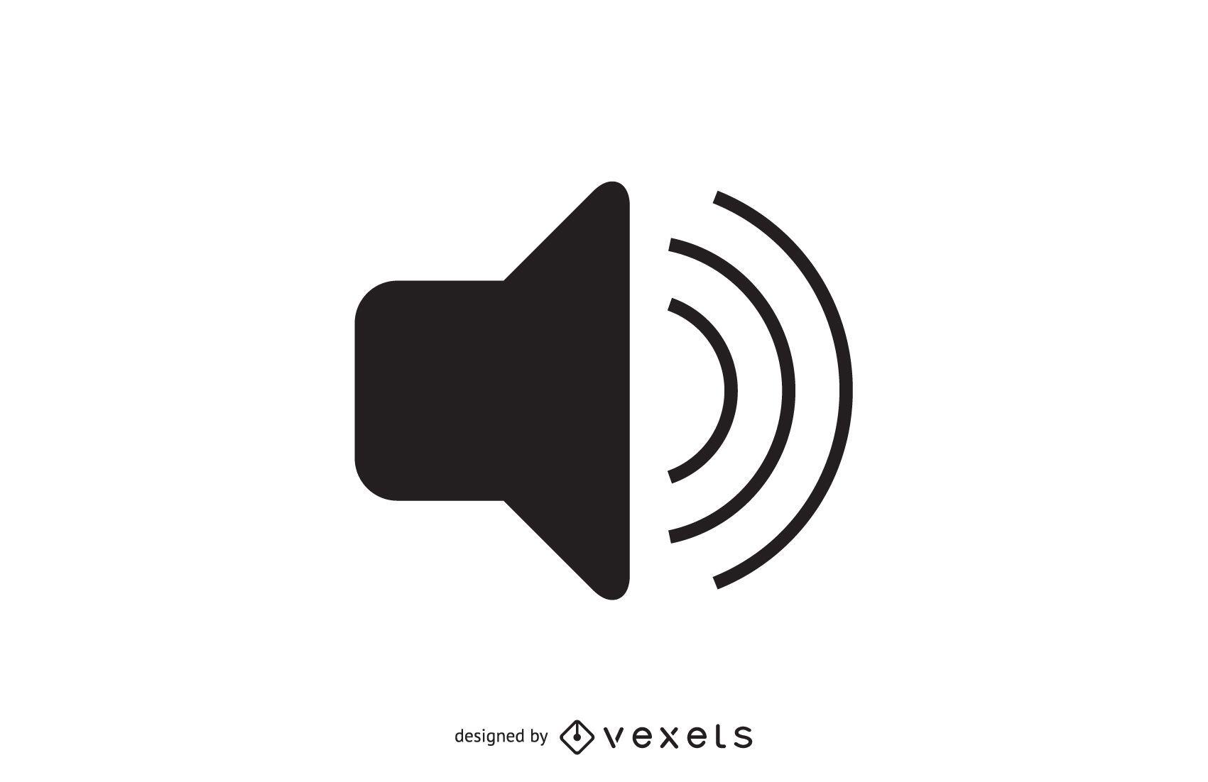 Icono de volumen de audio simple